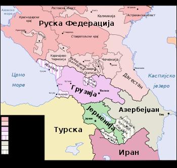 Jermenija u okviru geopolitičke karte Kavkaza