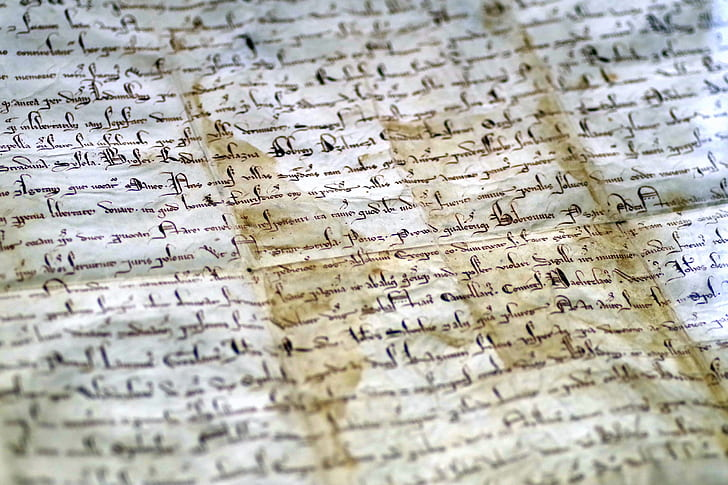 document parchment the middle ages princely